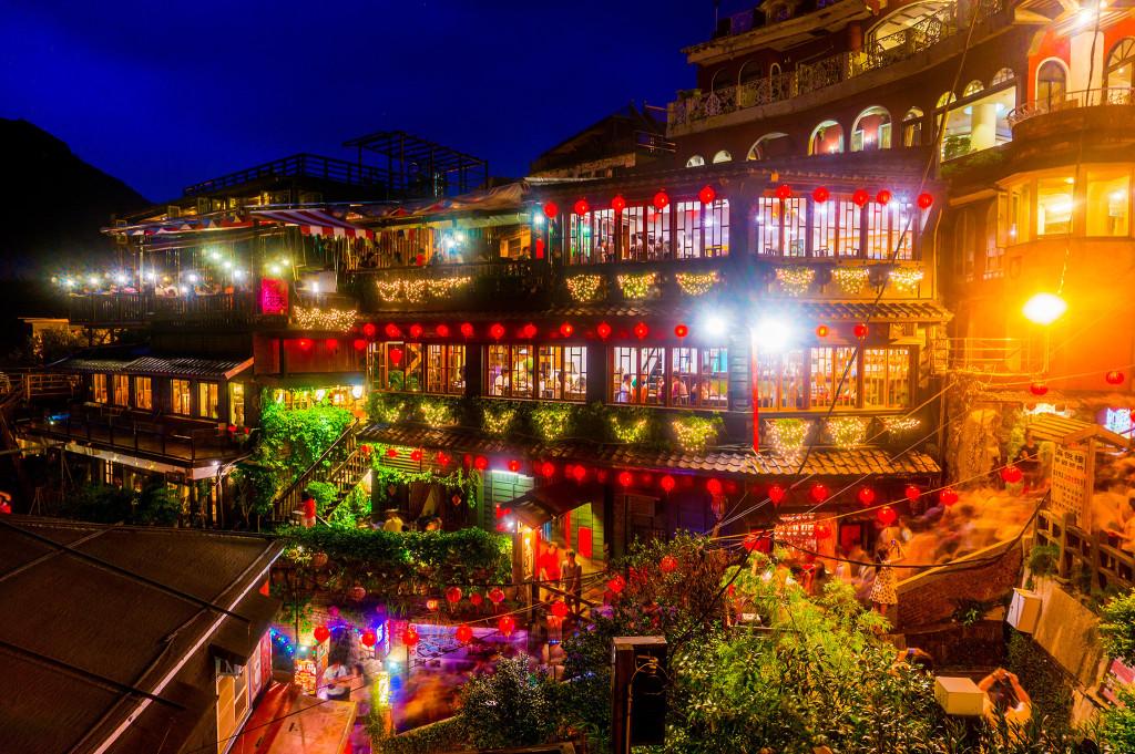 台湾・九份の夜景