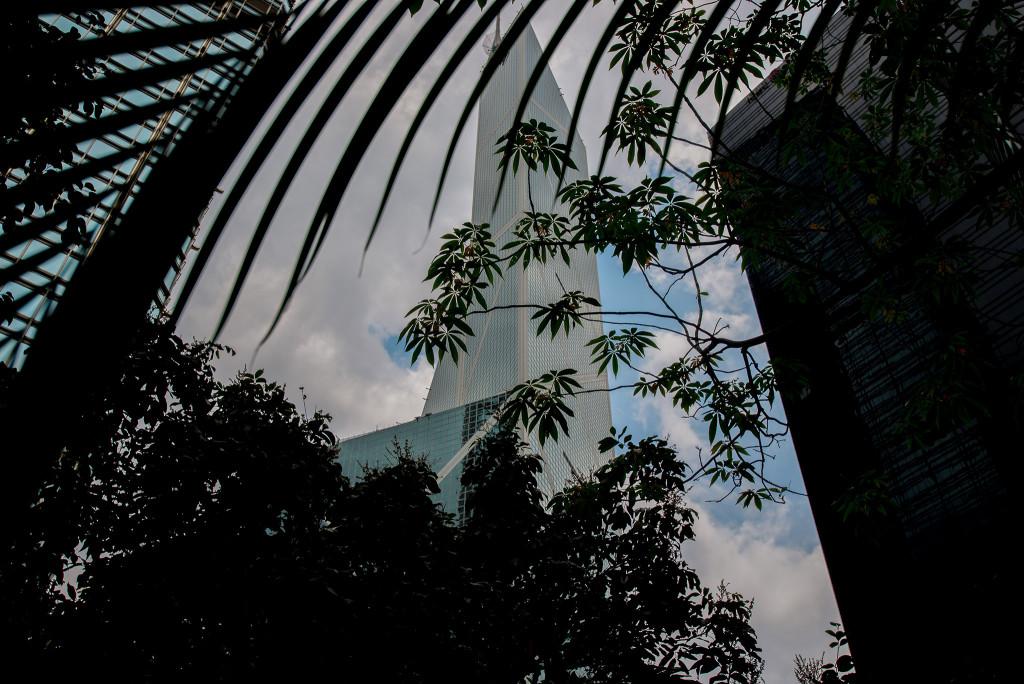 香港の中国銀行タワー(AF-S 18-35mm f/3.5-4.5G ED作例)