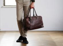 土屋鞄のボストンバッグ