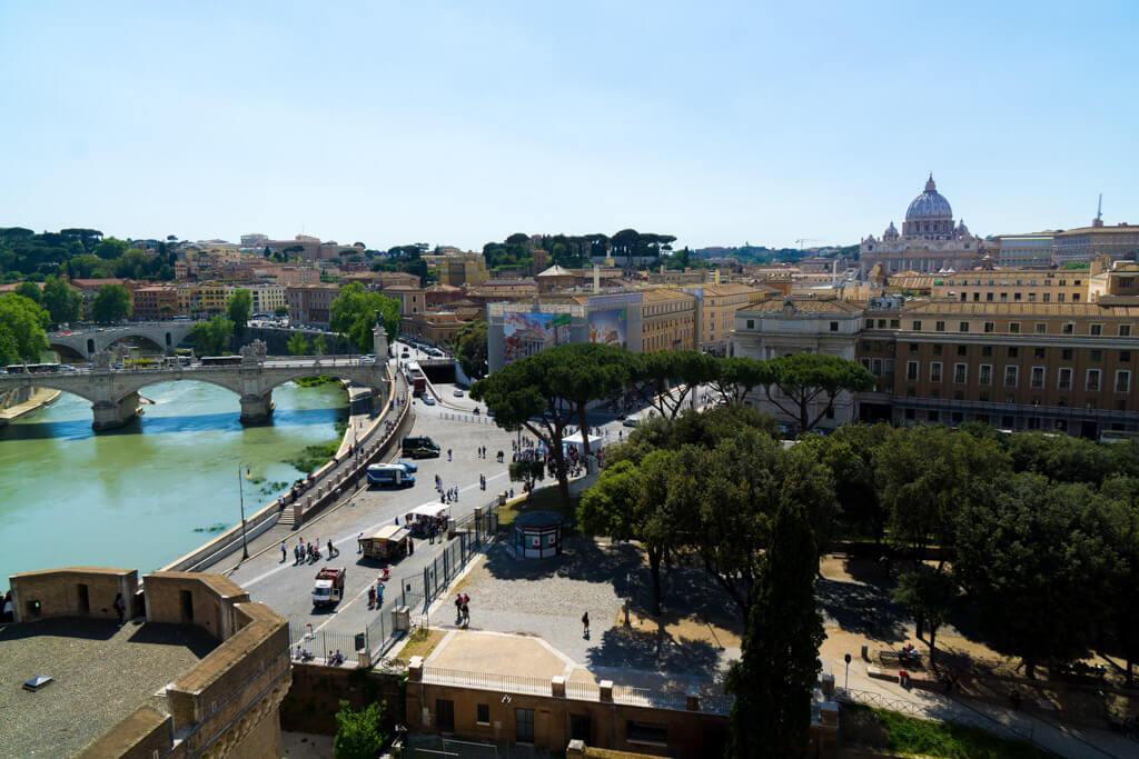 サンタンジェロ城の眺め
