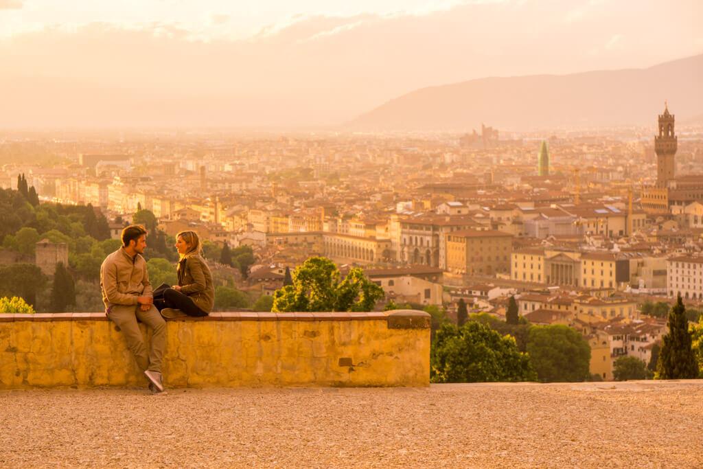 夕日に染まるフィレンツェ