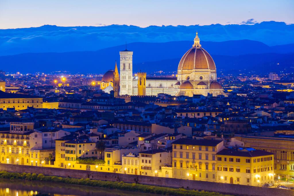 フィレンツェの夜景