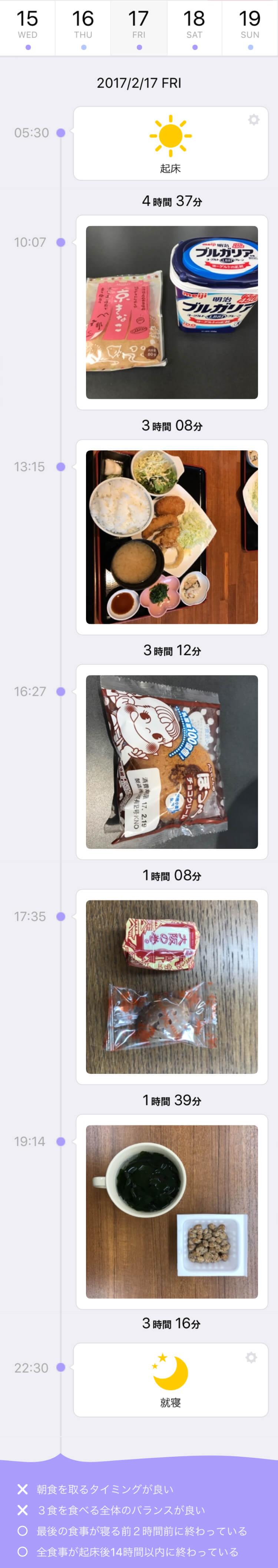 食事管理アプリ