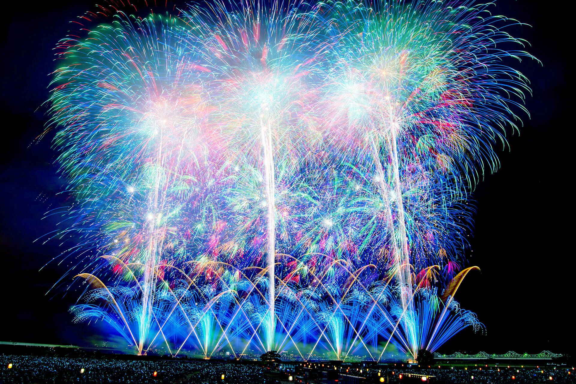 閃光の美しい長岡の花火