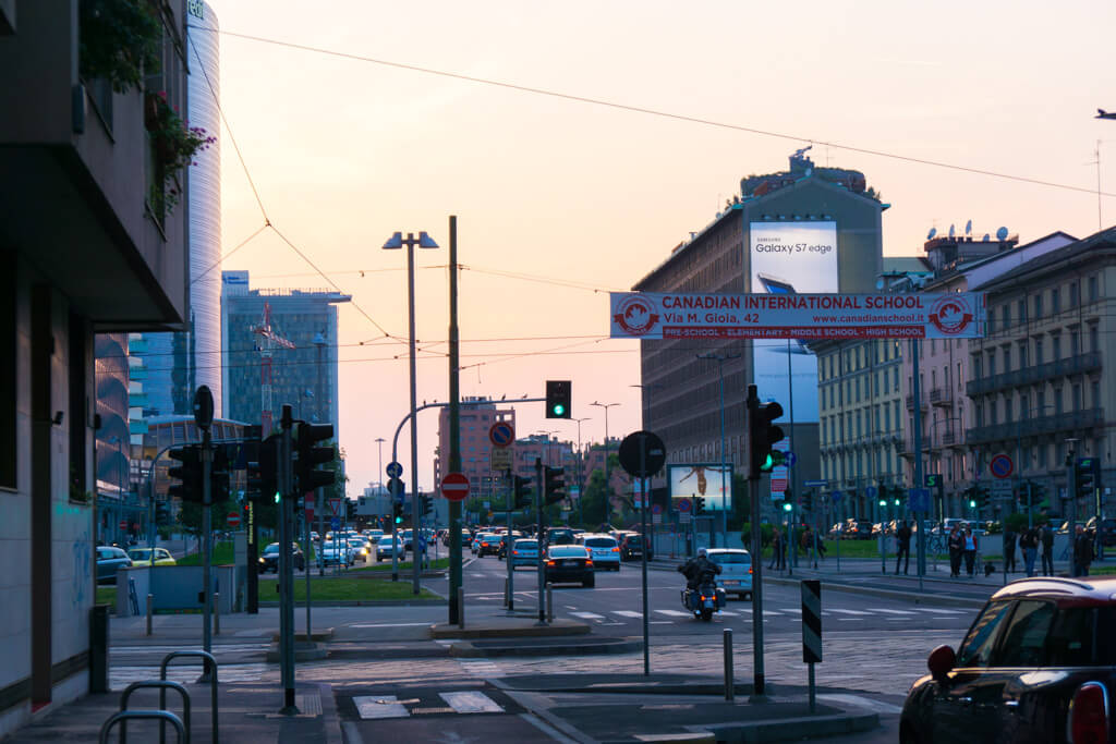 ミラノ中央駅付近