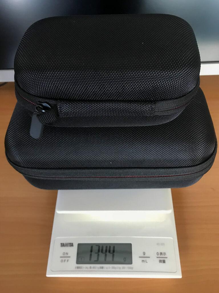 Mavic Pro、プロポ、収納ケースの合計重量は1344グラム