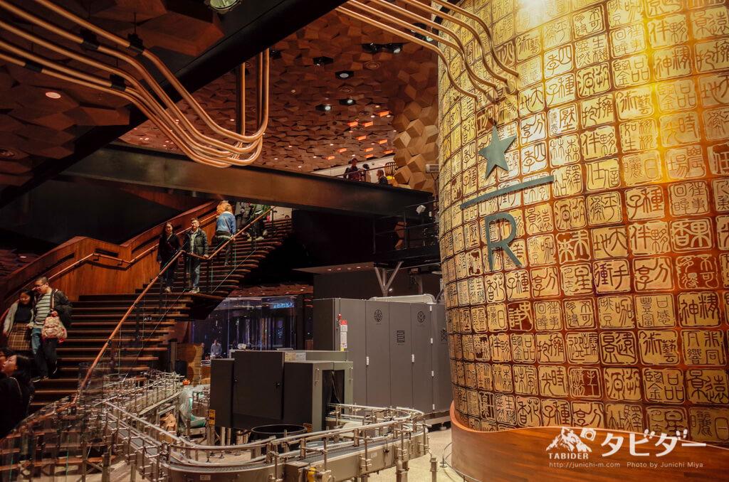 巨大ロースターと2階へと続く階段