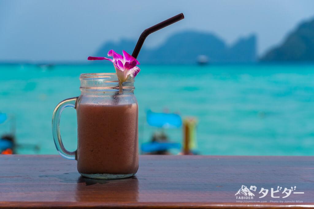 ピピ島の海が見えるカフェ