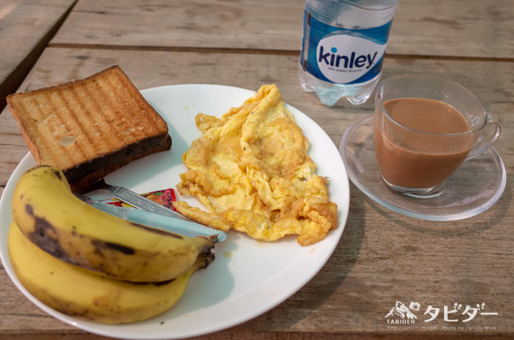Chatter Box Hostelの朝食
