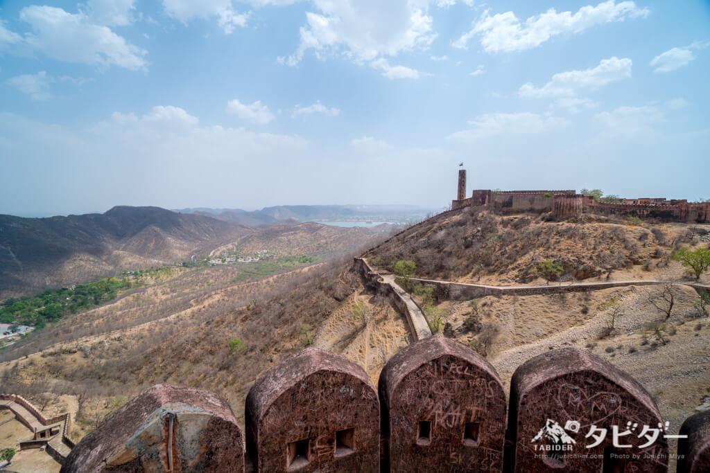 ジャイガル城からの眺め