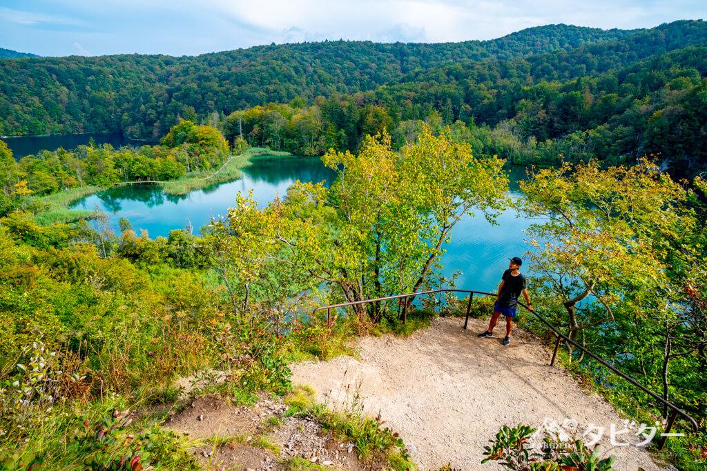プリトヴィッツェ湖群国立公園のKルートにある絶景スポット