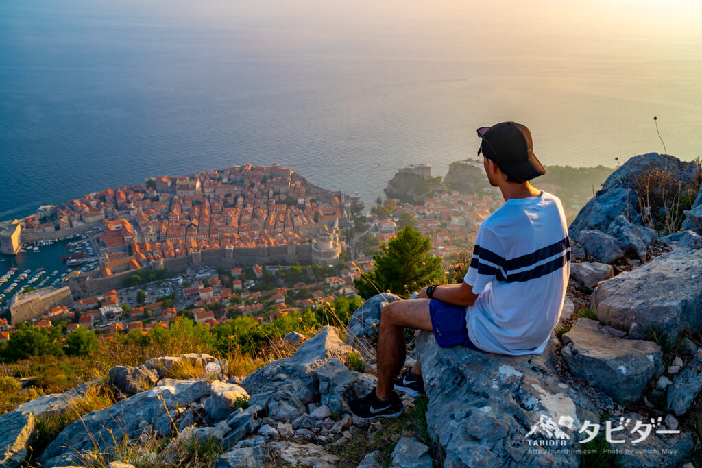 ドブロブニクのスルジ山からの眺め