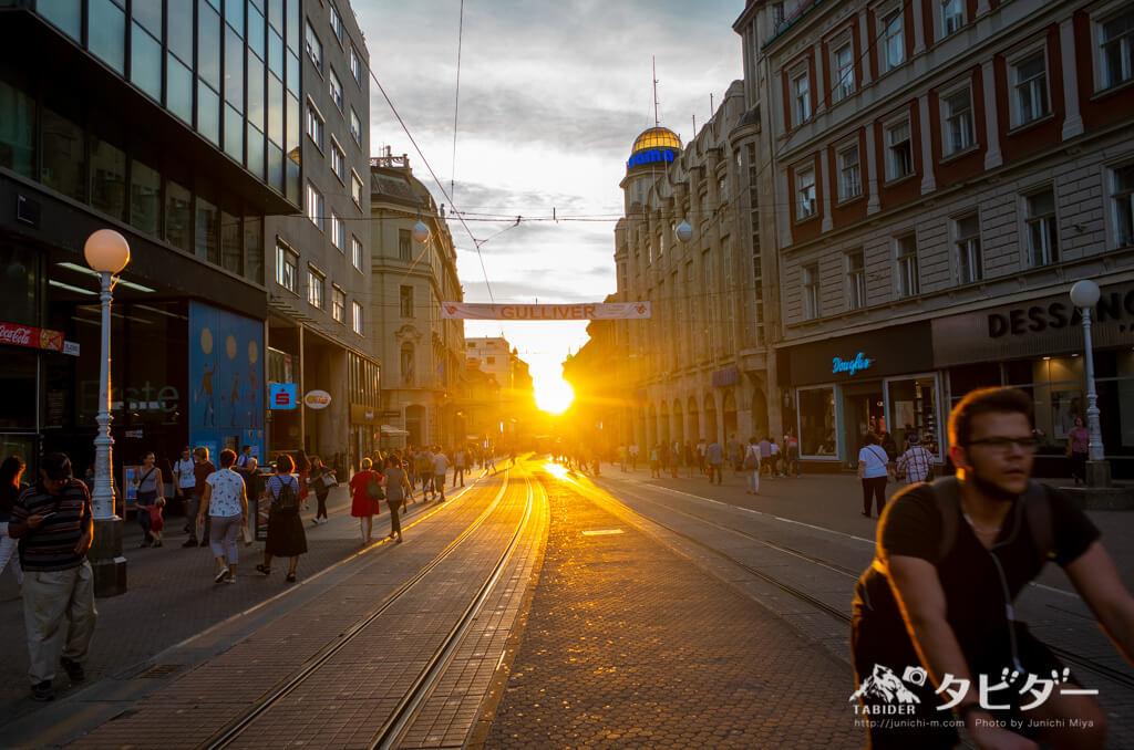 ザクレブで最も賑やかな繁華街