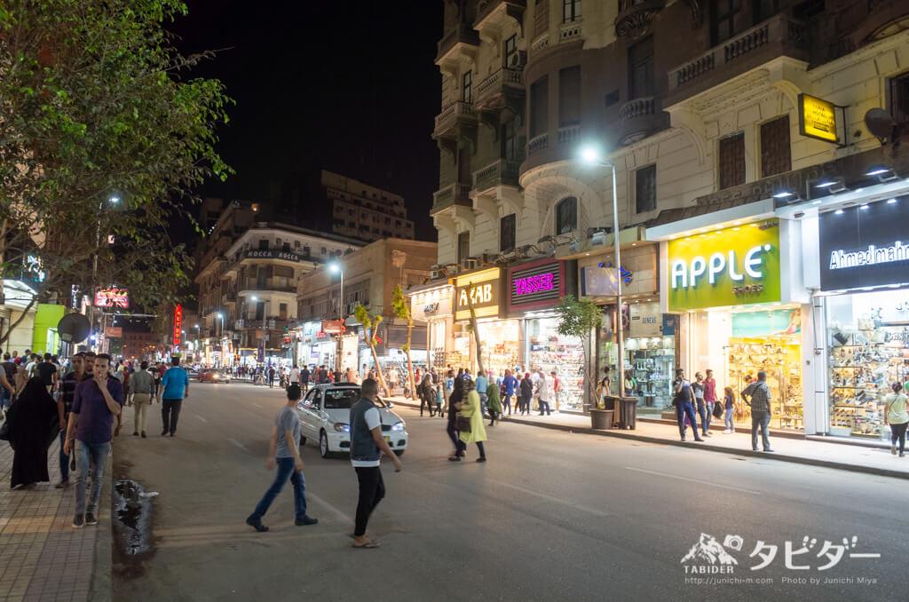 夜のカイロの繁華街