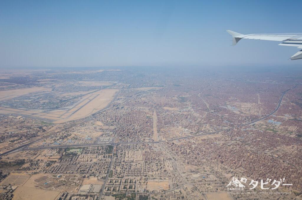 飛行機から見たカイロ