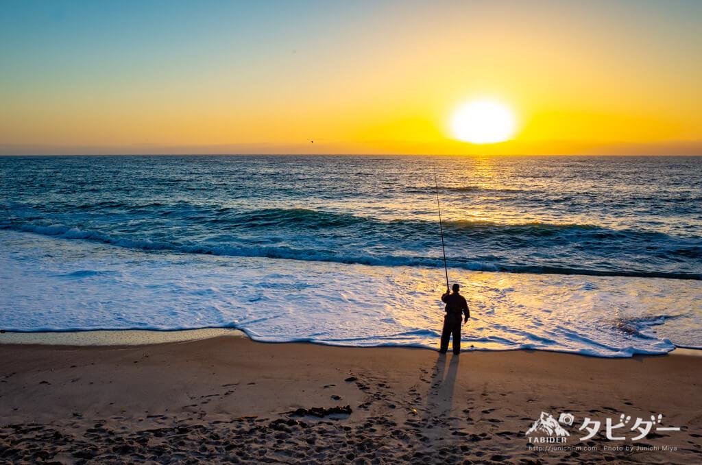 スワコプムントの大西洋と夕日