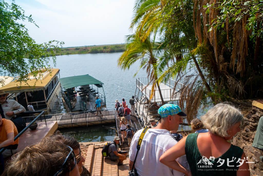 ボツワナのボートサファリのスタート地点