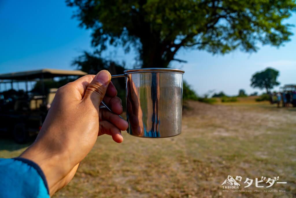 チョベサファリでのコーヒータイム