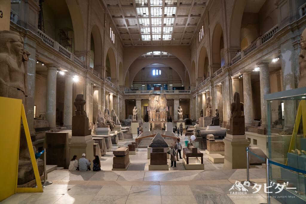 エジプト考古学博物館の内部