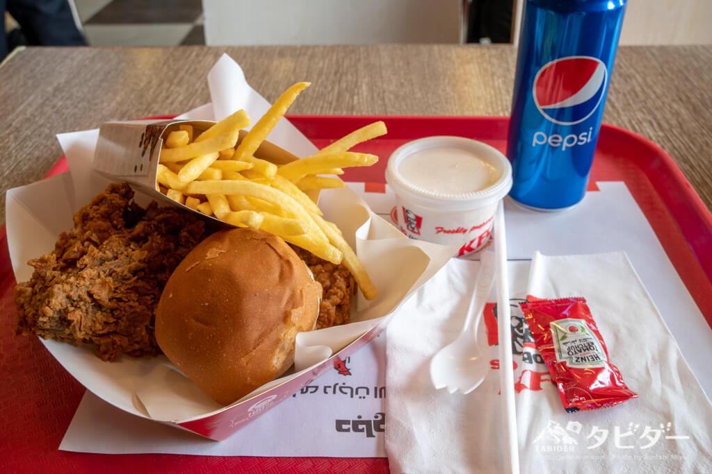 KFCのセットメニュー