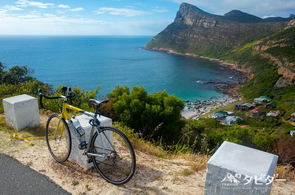 ケープ半島の海と自転車
