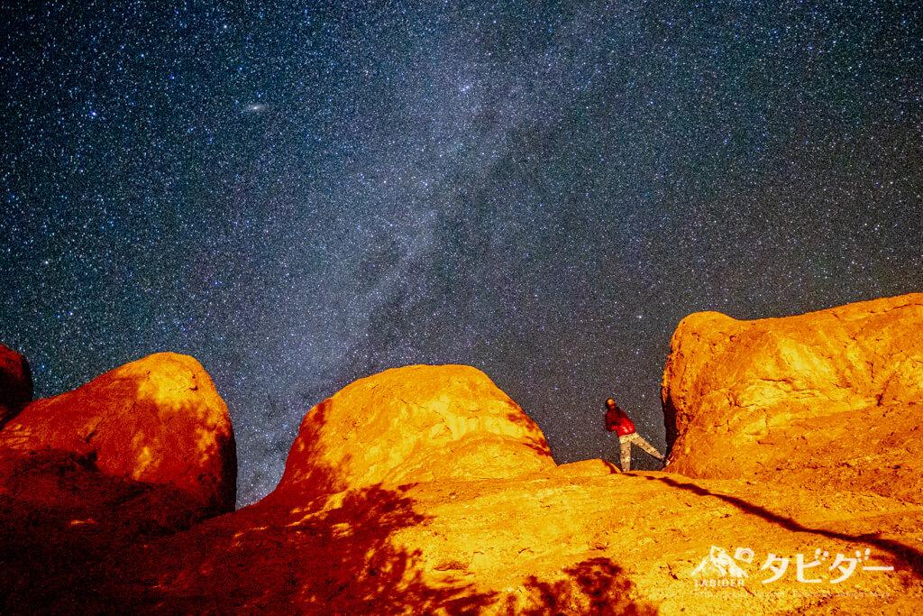 モロッコ・アトラス山脈から見える天の川銀河