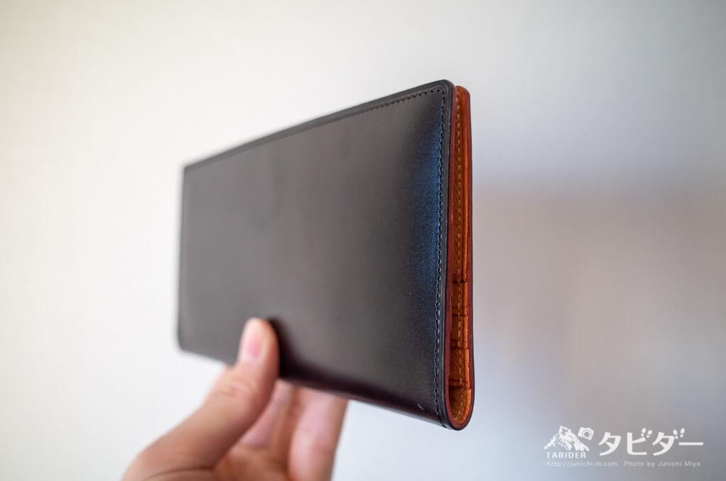 GANZO THIN BRIDLE (シンブライドル) マチ無し長財布