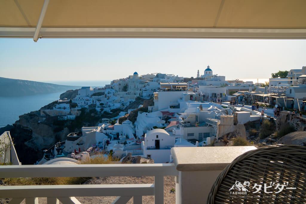 ギリシャ(サントリーニ島)のカフェ