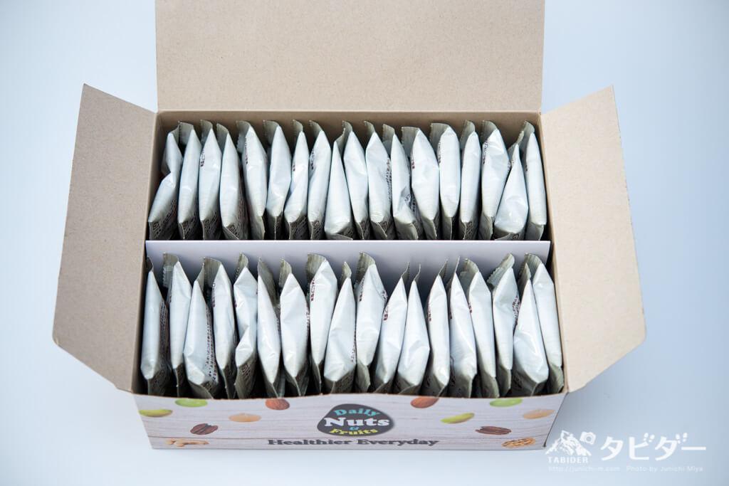 素焼きアーモンドのパッケージ30袋(1ヶ月分)