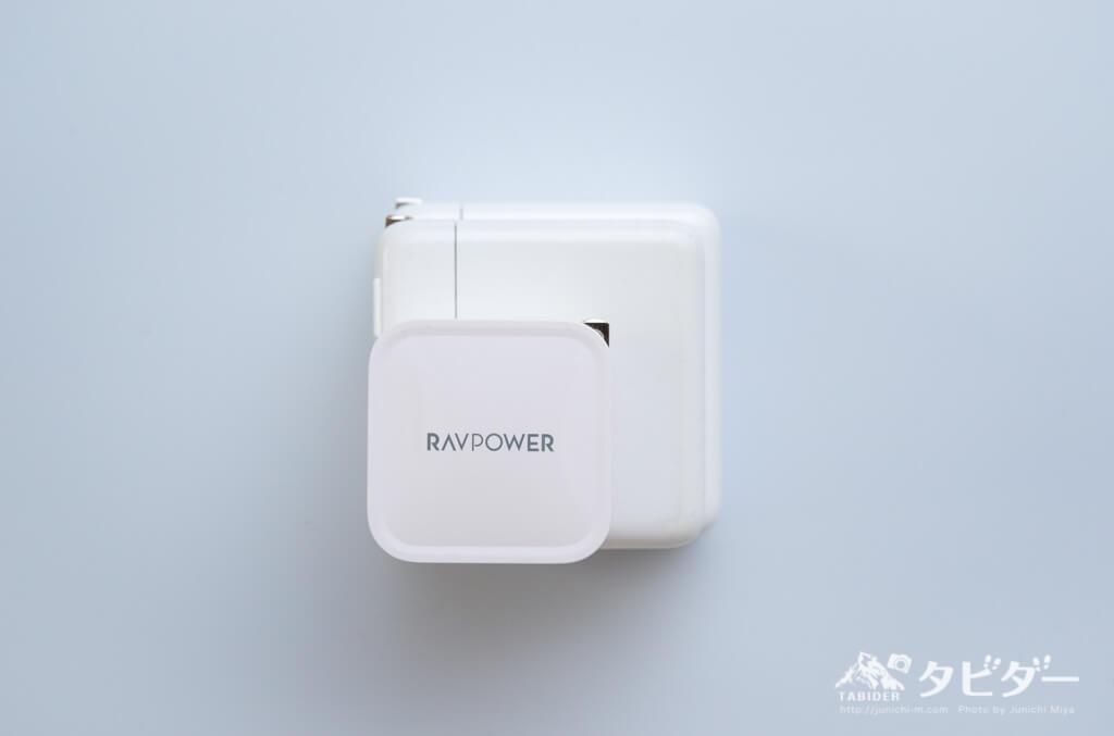 各電源充電器のサイズ比較