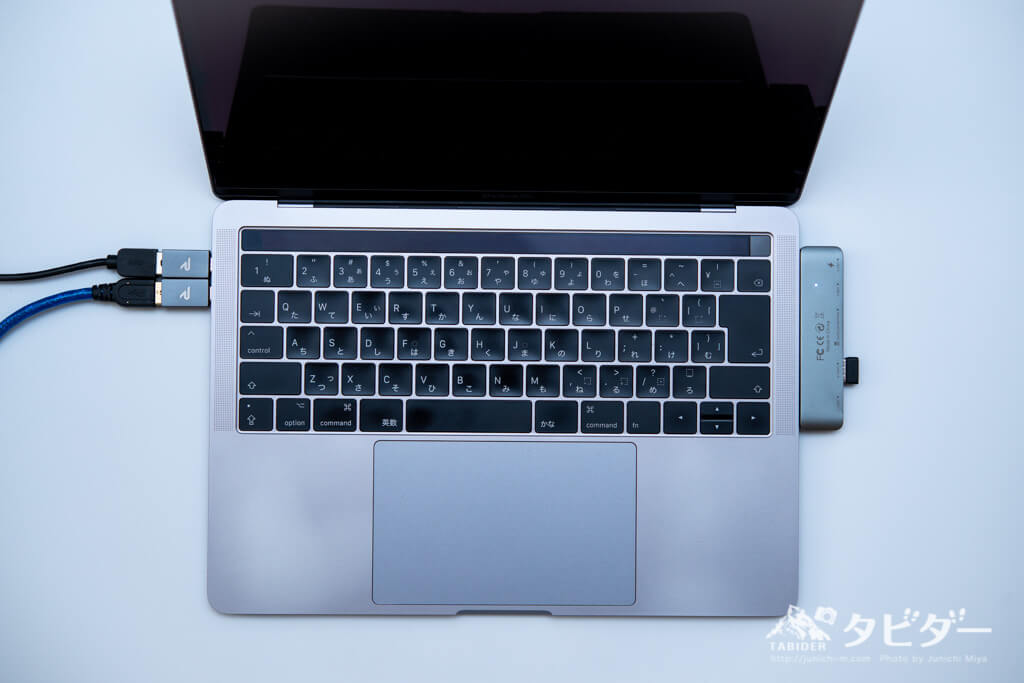 Rampow USBアダプタとEgoIggo USBCハブ