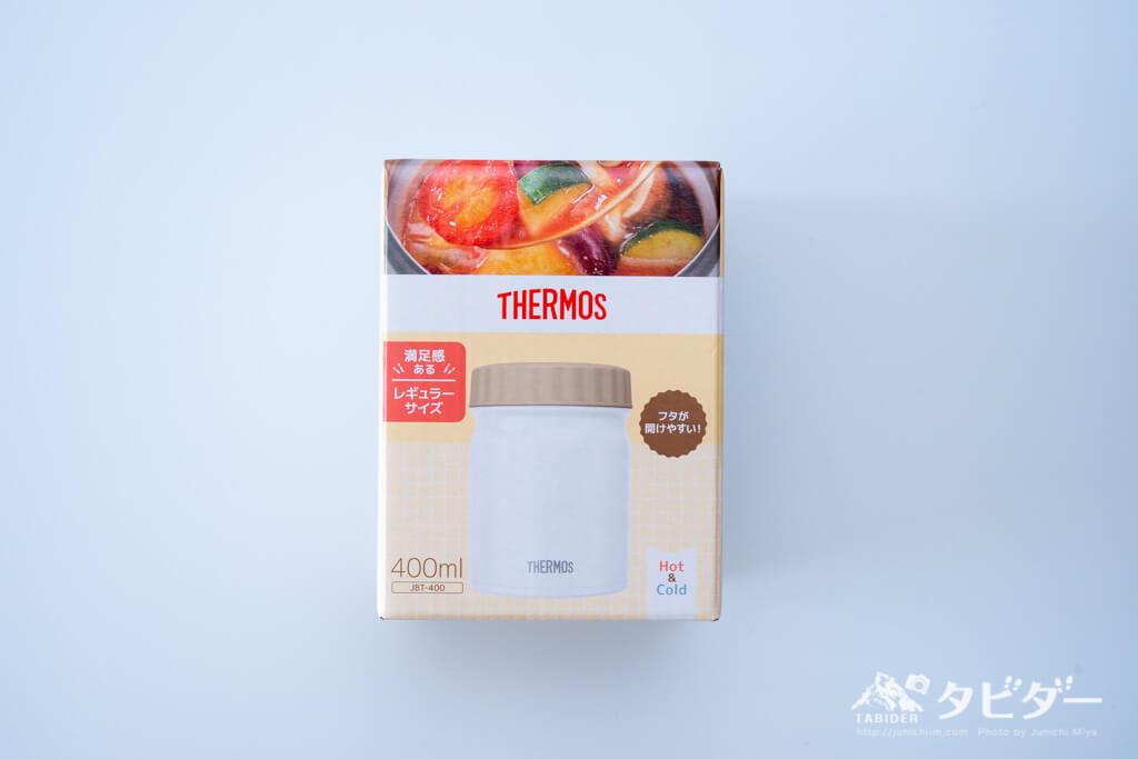 サーモス 真空断熱スープジャー ホワイト 400ml JBT-400 WHの箱