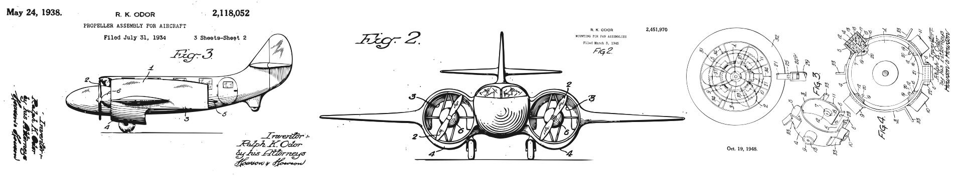 プロペラ機の設計図