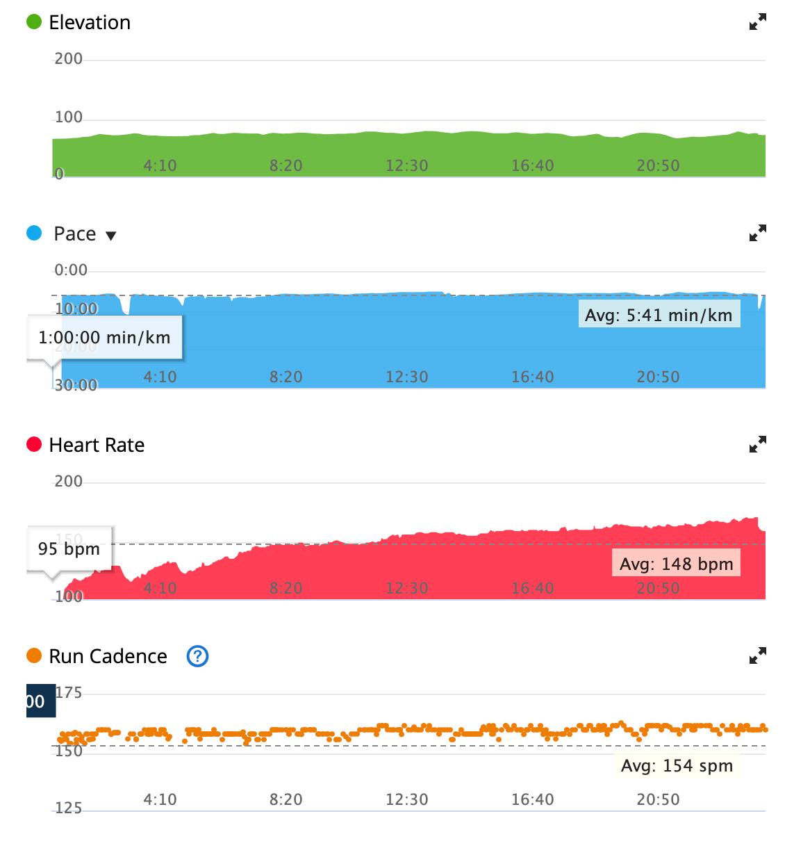 garmin connectでのランニング計測データ(ケイデンスなど)