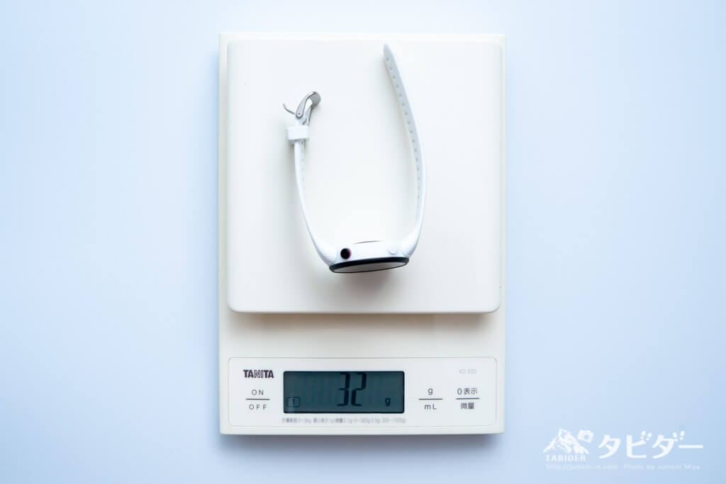 ガーミン45sの重量:32g(実測)