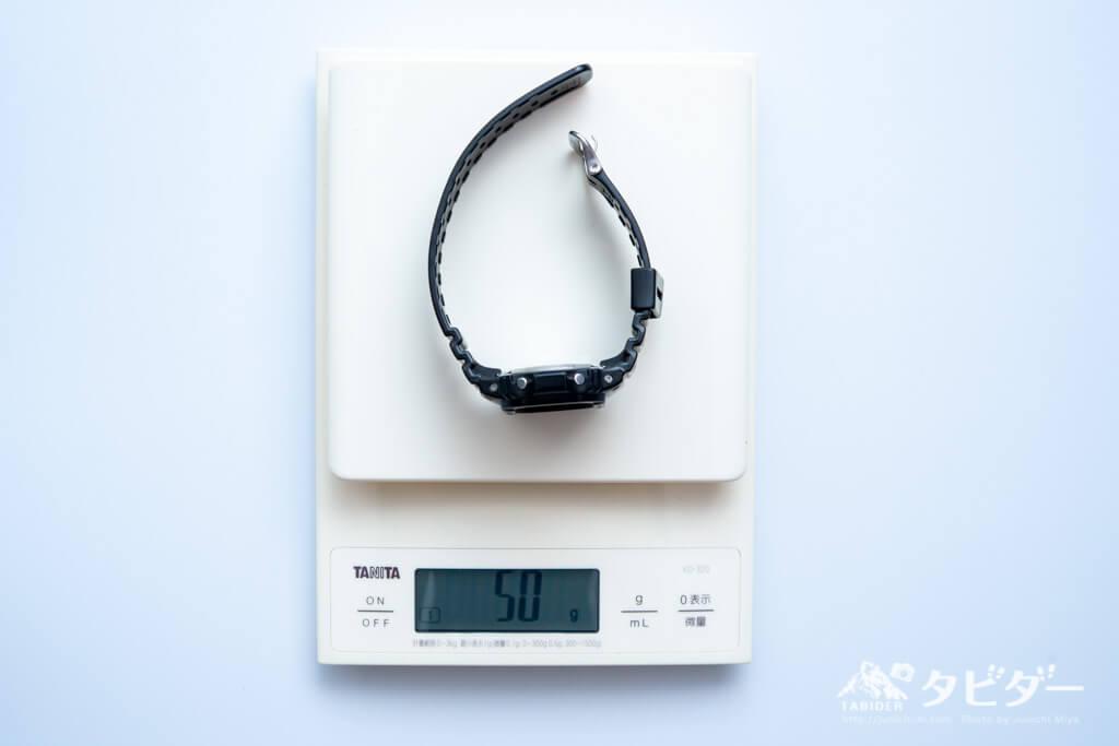 G-SHOCKの重量:50g(実測)