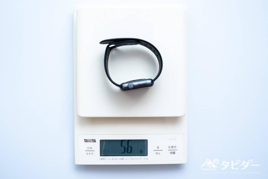 Apple Watchの重量:56g(実測)