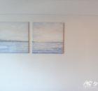 イケアの湖畔をイメージした3点アートパネル