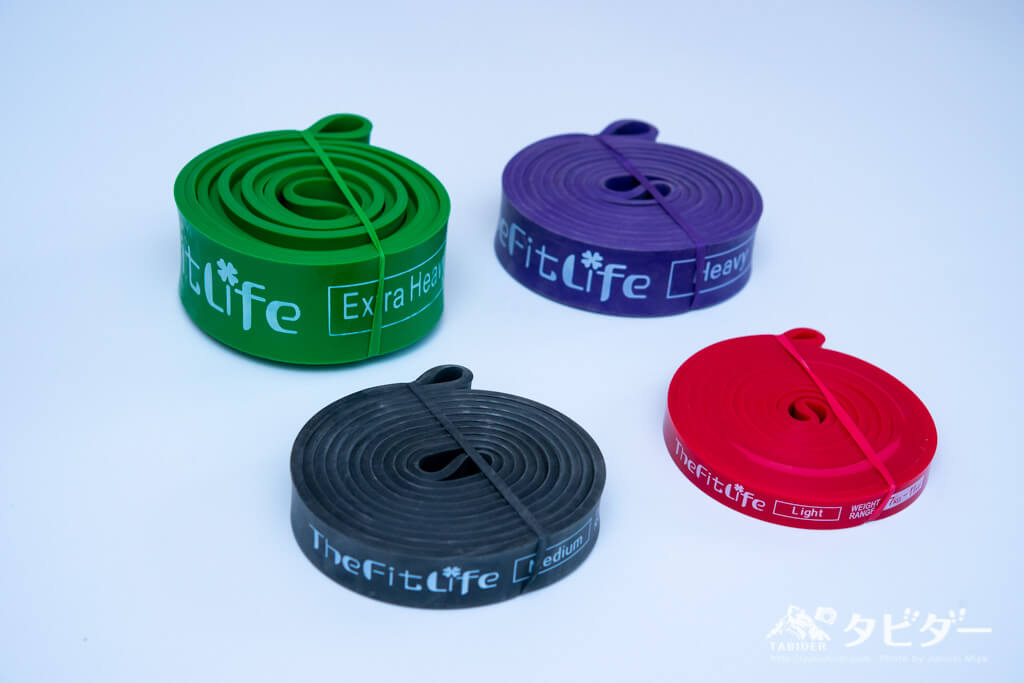 TheFitLife懸垂チューブ(4種:耐荷重7〜79kg)